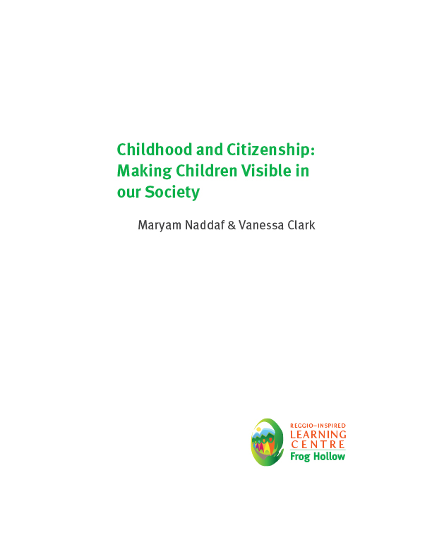 "Cover image of ""Childhood and Citizenship: Making Children VIsible in our Society"""