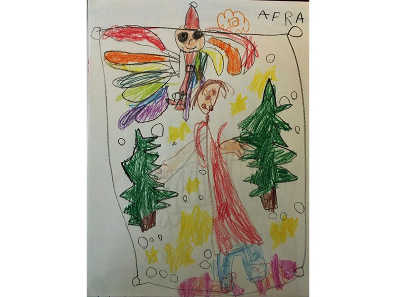 an expressive children's drawing